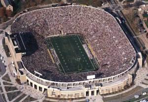 crowed stadium