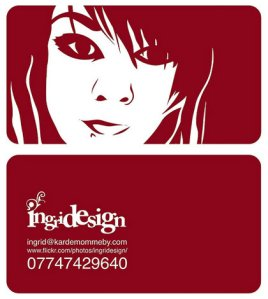 my business card, my face